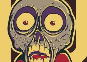 Kid Zombie t shirt vector art