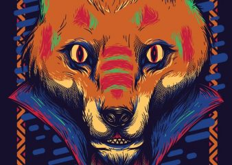 Voodoo Fox t shirt vector art