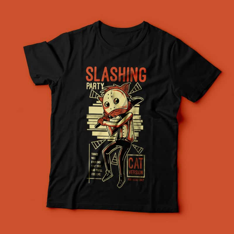 Slashing Party 4 buy t shirt design