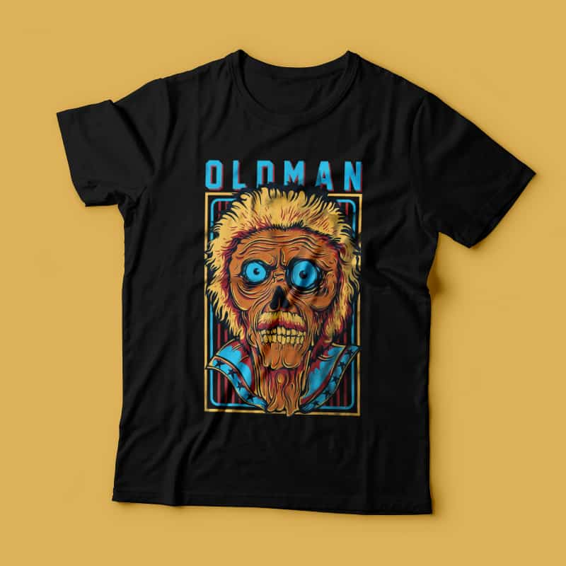 Old Man buy t shirt design