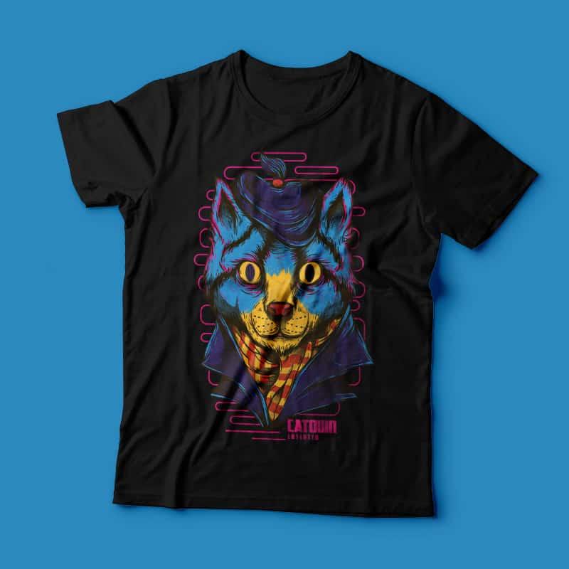Catown buy t shirt design