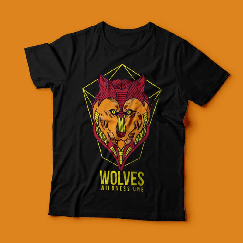 Wild Wolves buy t shirt design