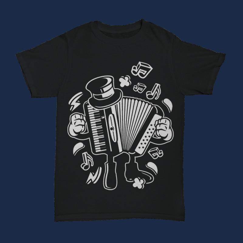 Accordion buy t shirt design