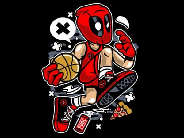 Deadpool Basketball t shirt vector illustration