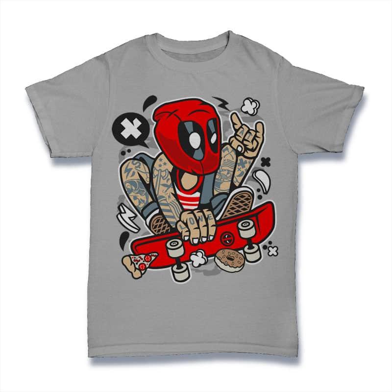 Deadpool Skater buy t shirt design