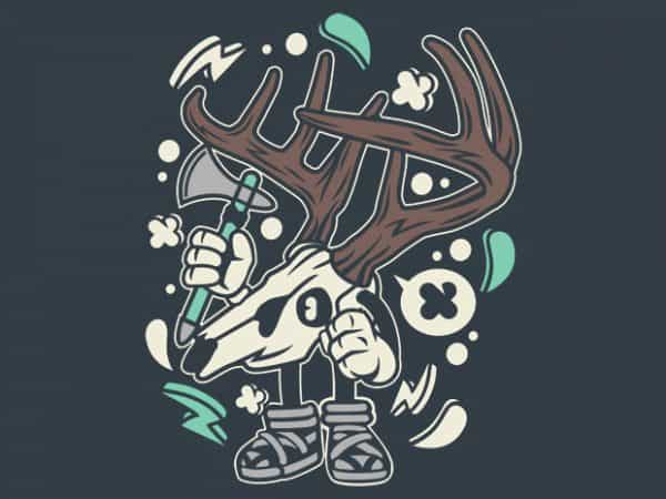 Deer Skull BTD  600x450 - Deer Skull buy t shirt design