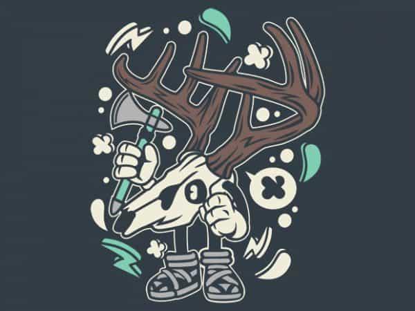 Deer Skull buy t shirt design
