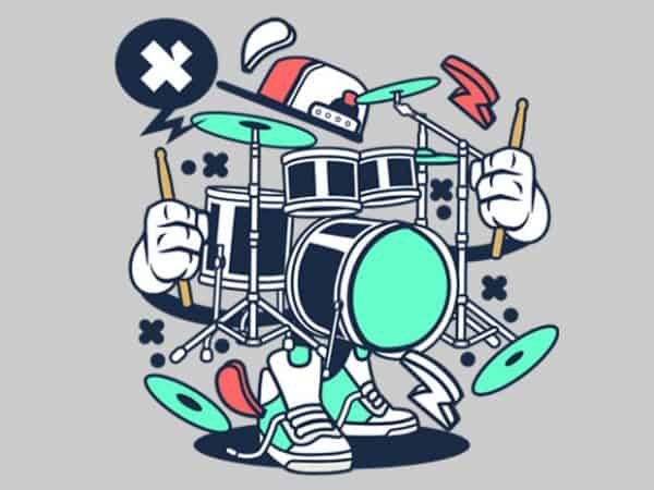 Drum Set BTD  600x450 - Drum Set buy t shirt design
