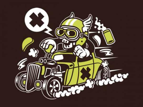 Hot Rod Skull buy t shirt design