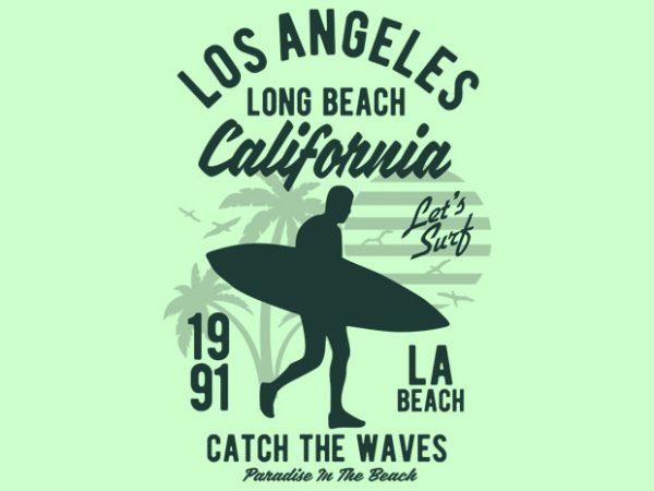 Los Angeles Long Beach t shirt design buy t shirt design