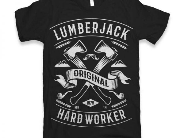 Lumberjack Vector t-shirt design