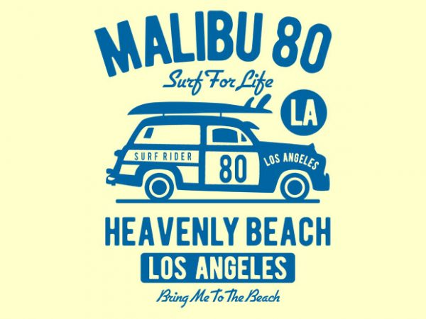 Malibu 80 t shirt design buy t shirt design