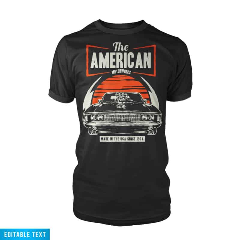 American Muscle Car buy t shirt design