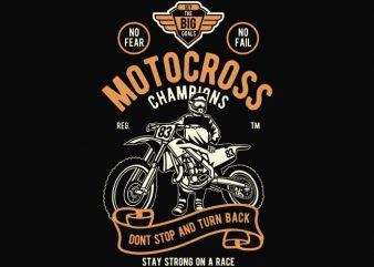 Motocross Champions t shirt design buy t shirt design