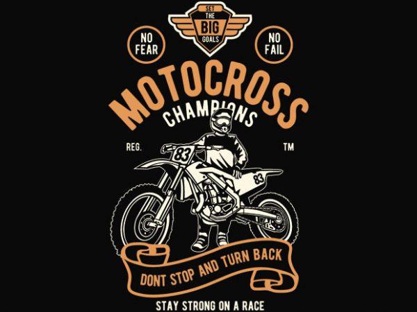 Motocross Champions t shirt design