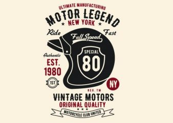 Motor Legend Helmet t shirt design buy t shirt design