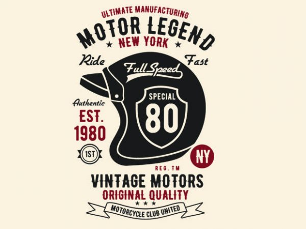 Motor Legend Helmet t shirt design