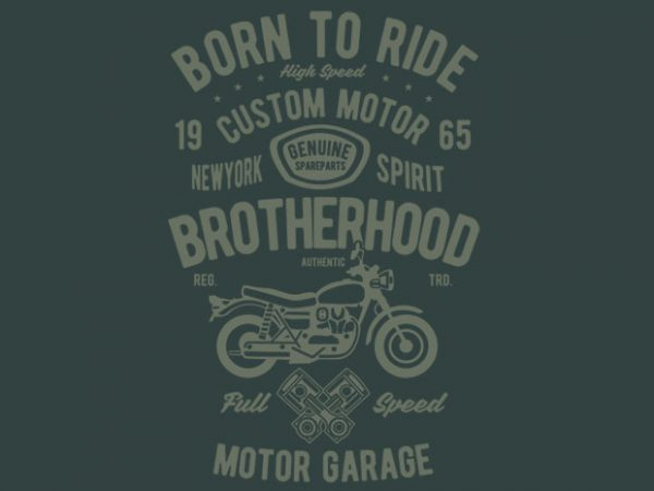 Motorcycle Brotherhood tshirt design buy t shirt design