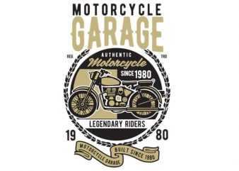 Motorcycle Garage Classic t-shirt design buy t shirt design