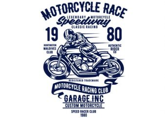 Motorcycles Race T-shirt design