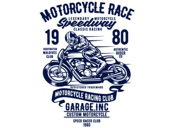 Motorcycles Race T-shirt design buy t shirt design