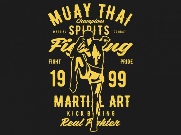 Muay Thai Tshirt design buy t shirt design