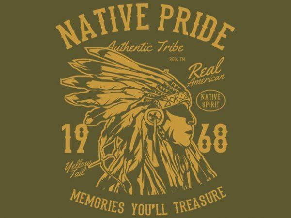 Native Pride Tshirt design