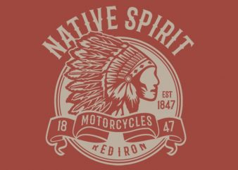 Native Spirit Vector T-shirt Design