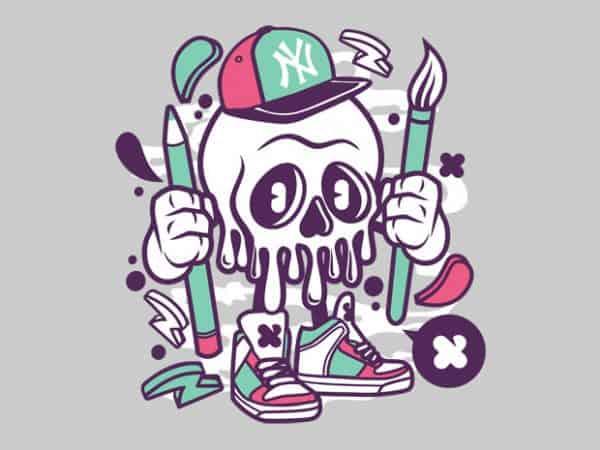 Skull BTD  600x450 - Skull buy t shirt design