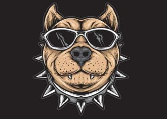 Funky Dog t shirt graphic design