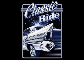 Classic Ride t shirt vector file
