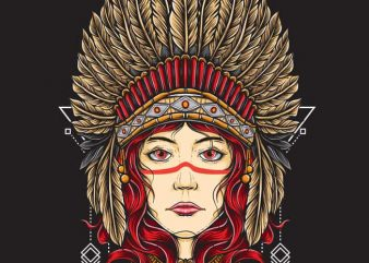 Native Girl buy t shirt design