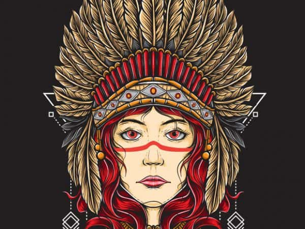 native girl 600x450 - Native Girl buy t shirt design