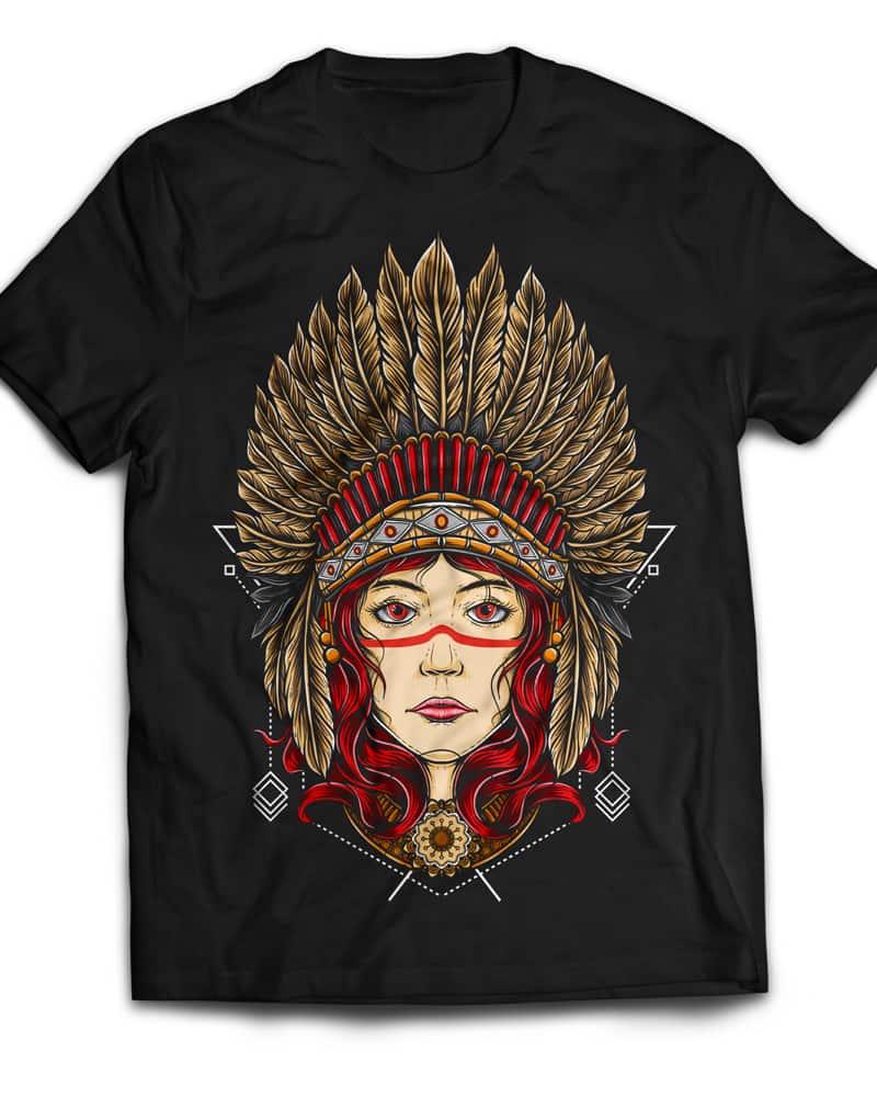 Native Girl buy t shirt design