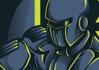 Robo Boxing t shirt design online