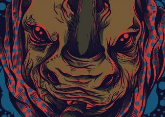 Rhino Cheroses t shirt design online