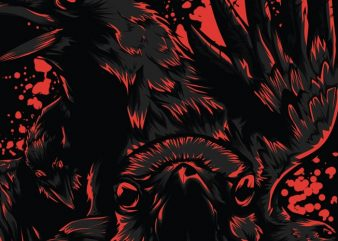 Black Crow buy t shirt design