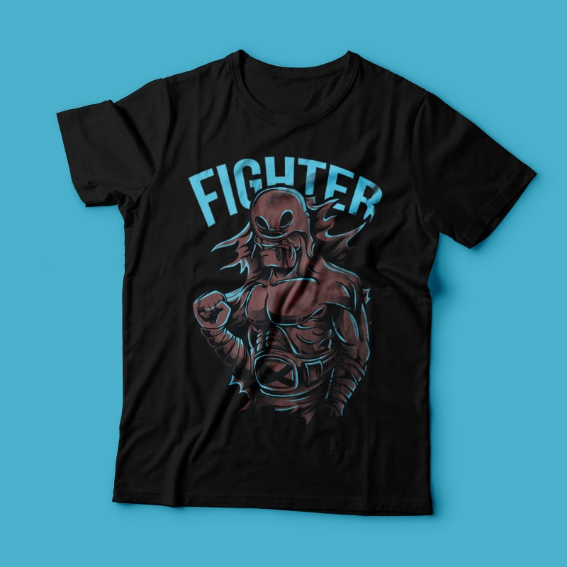 Lone Fighter buy t shirt design