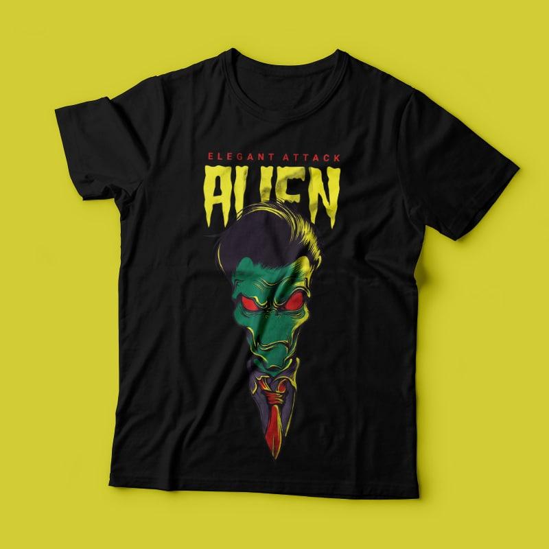 Elegant Alien buy t shirt design