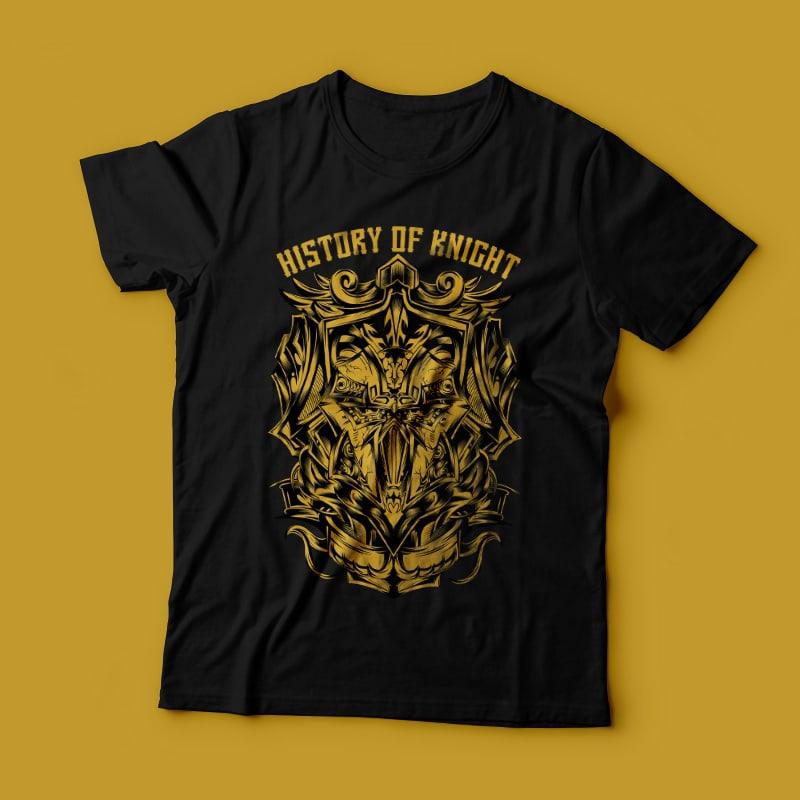 History of Knight buy t shirt design