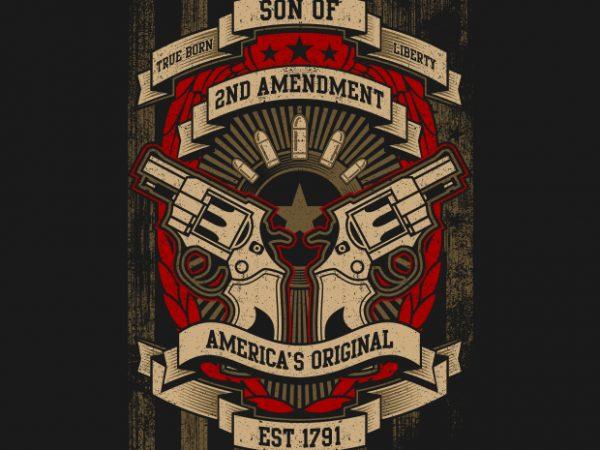 2nd amendment BTD 600x450 - 2nd Amendment buy t shirt design