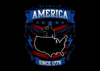 America Since 1776 buy t shirt design