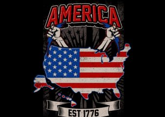 America Est 1776 t shirt vector