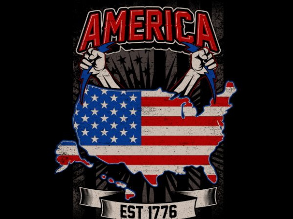 America Est 1776 buy t shirt design