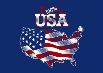 100% USA buy t shirt design