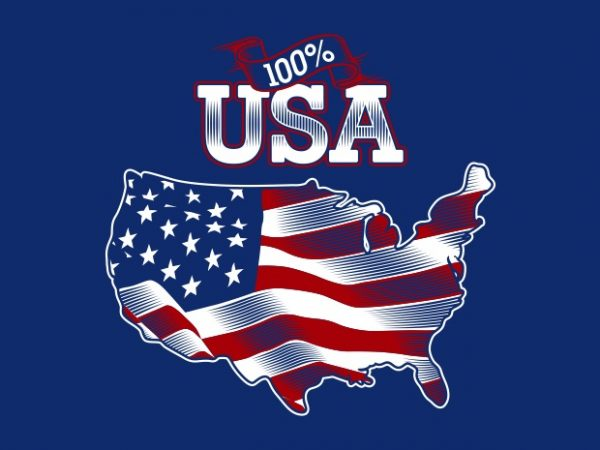 American Flag BTD 600x450 - 100% USA buy t shirt design