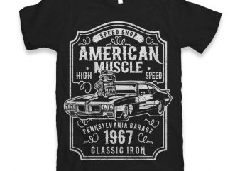 American Muscle t-shirt design buy t shirt design
