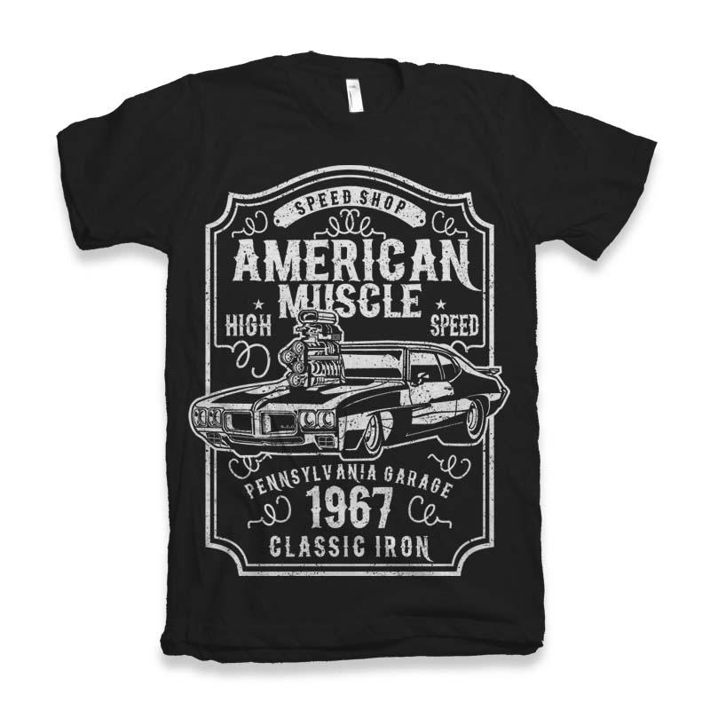 American Muscle t-shirt design buy t shirt design