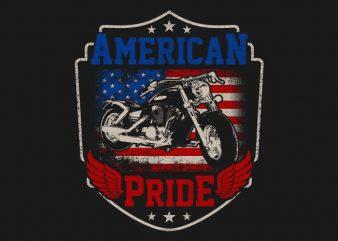 American Pride t shirt vector
