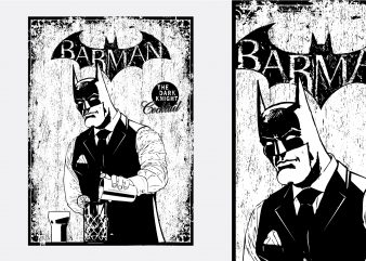 Barman Batman Tshirt Design buy t shirt design